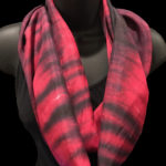 red & black shibori